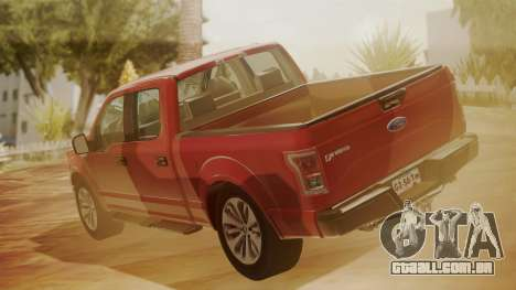 Ford F-150 2015 Stock para GTA San Andreas esquerda vista