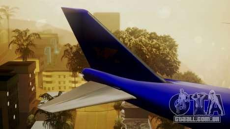 Boeing 747-200 Trans GTA Air para GTA San Andreas traseira esquerda vista