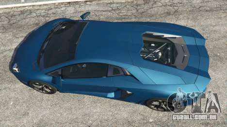 GTA 5 Lamborghini Aventador LP700-4 v2.1 voltar vista