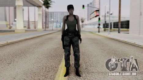 Resident Evil Remake HD - Jill Valentine (Army) para GTA San Andreas segunda tela