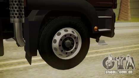 MAN TGS 8x4 Dumper para GTA San Andreas traseira esquerda vista