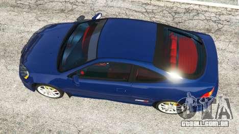 GTA 5 Honda Integra Type-R with license plate voltar vista