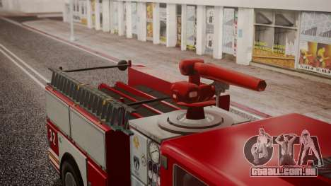 GTA 5 MTL Firetruck IVF para GTA San Andreas vista traseira