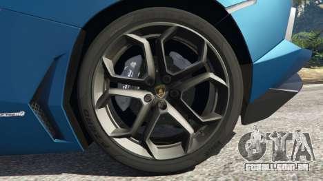 GTA 5 Lamborghini Aventador LP700-4 v2.1 traseira direita vista lateral