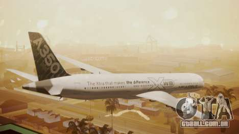 Airbus 350-900XWB Around The World para GTA San Andreas esquerda vista