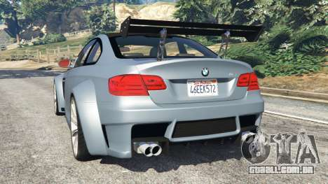 GTA 5 BMW M3 (E92) WideBody v1.0 traseira vista lateral esquerda