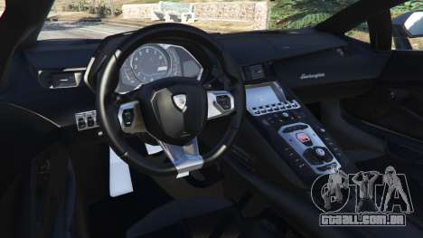 GTA 5 Lamborghini Aventador LP700-4 Police v4.0 vista lateral direita