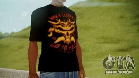 Brock Lesnar Shirt v1 para GTA San Andreas segunda tela