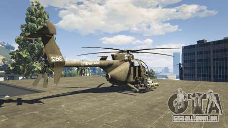 GTA 5 MH-6/AH-6 Little Bird Marine quarto screenshot
