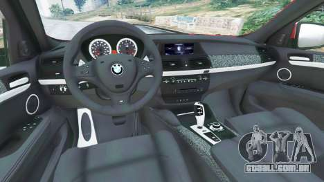 GTA 5 BMW X6 M (E71) traseira direita vista lateral