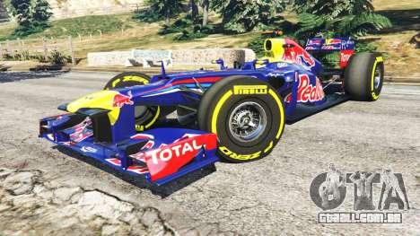GTA 5 O Red Bull RB8 [Sebastian Vettel] vista lateral direita