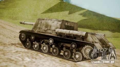 ISU-152 Snow from World of Tanks para GTA San Andreas esquerda vista
