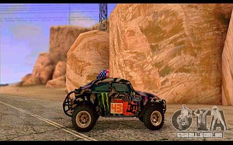 VW Baja Buggy Gymkhana 6 para GTA San Andreas traseira esquerda vista