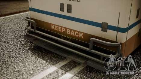 GTA 5 Brute Ambulance IVF para GTA San Andreas vista traseira
