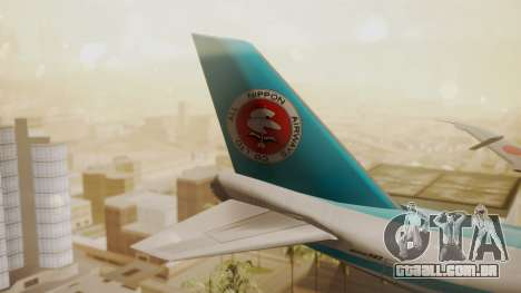 Boeing 747-100 All Nippon Airways para GTA San Andreas traseira esquerda vista