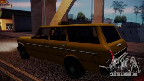 Taxi-Perennial para GTA San Andreas traseira esquerda vista