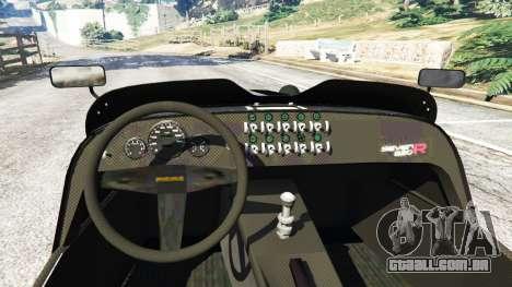 GTA 5 Caterham Super Seven 620R v1.5 [black] traseira direita vista lateral