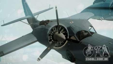 Grumman G-21 Goose Military para GTA San Andreas vista direita