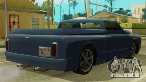 Kounts Pickup PaintJob para GTA San Andreas traseira esquerda vista