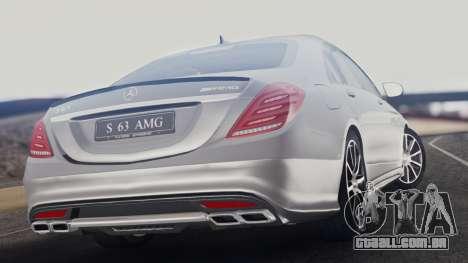 Mercedes-Benz W222 S63 AMG para GTA San Andreas esquerda vista