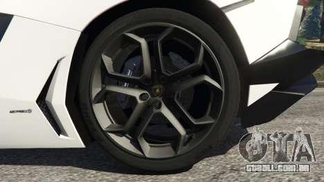 GTA 5 Lamborghini Aventador LP700-4 Police v4.0 traseira direita vista lateral