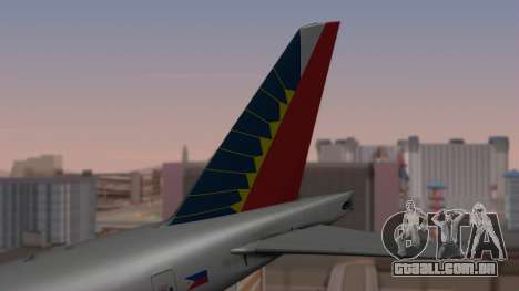 Boeing 777-200LR Philippine Airlines para GTA San Andreas traseira esquerda vista