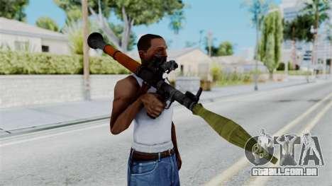Rocket Launcher from RE6 para GTA San Andreas