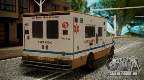 GTA 5 Brute Ambulance IVF para GTA San Andreas esquerda vista