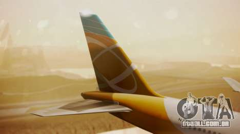 Boeing 767-300 Orbit Airlines para GTA San Andreas traseira esquerda vista