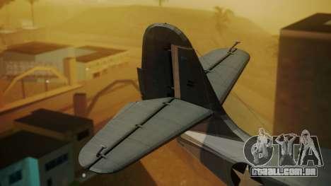 Grumman G-21A Goose para GTA San Andreas traseira esquerda vista