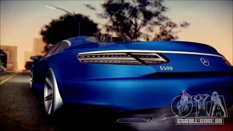 Mercedes-Benz S Coupe Vossen cv5 2014 para GTA San Andreas traseira esquerda vista