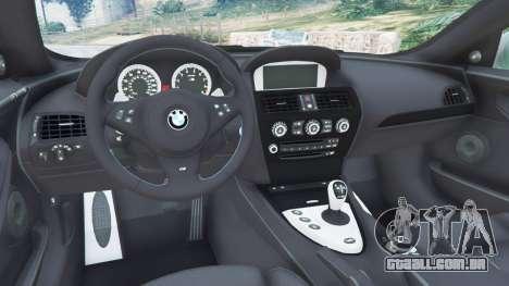 GTA 5 BMW M6 (E63) Tunable vista lateral direita