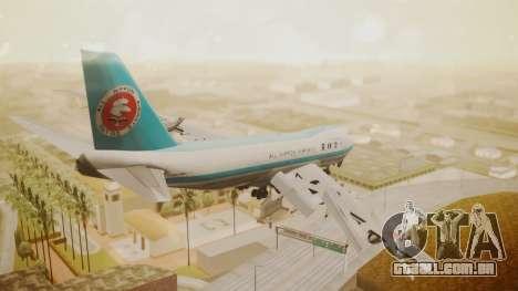 Boeing 747-100 All Nippon Airways para GTA San Andreas esquerda vista