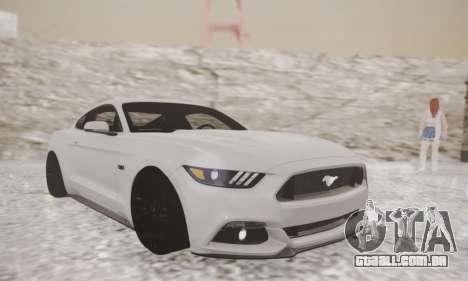 Ford Mustang GT 2015 Stock para GTA San Andreas esquerda vista