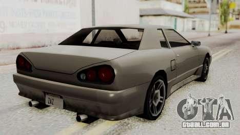 Elegy The Gold Car 1 para GTA San Andreas esquerda vista