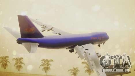 Boeing 747-200 Trans GTA Air para GTA San Andreas esquerda vista