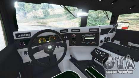 GTA 5 Hummer H1 v2.0 traseira direita vista lateral