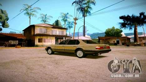 BMW 735il E32 1992 para GTA San Andreas vista direita