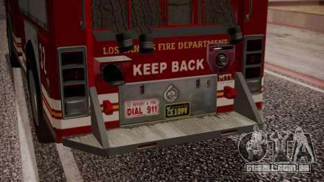 GTA 5 MTL Firetruck IVF para GTA San Andreas vista superior