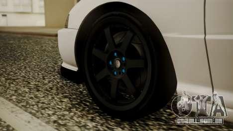Honda Integra R Spoon para GTA San Andreas traseira esquerda vista