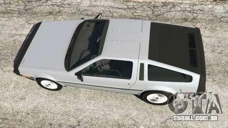 GTA 5 DeLorean DMC-12 voltar vista