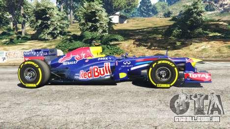 GTA 5 O Red Bull RB8 [Sebastian Vettel] vista lateral esquerda