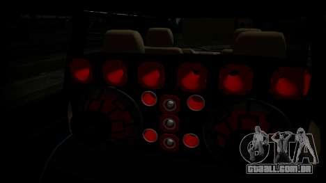 Toyota Kijang Tuned Stance para GTA San Andreas traseira esquerda vista