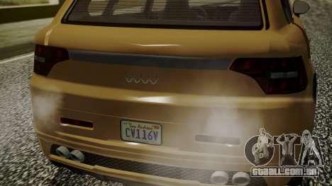 GTA 5 Obey Rocoto para GTA San Andreas traseira esquerda vista
