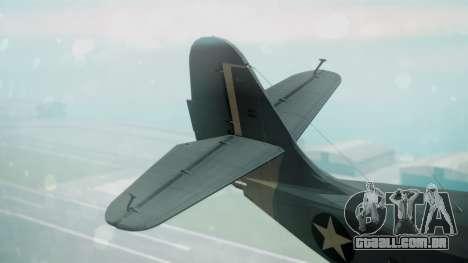 Grumman G-21 Goose Military para GTA San Andreas traseira esquerda vista