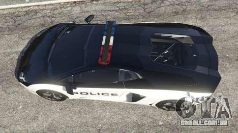 GTA 5 Lamborghini Aventador LP700-4 Police v4.0 voltar vista