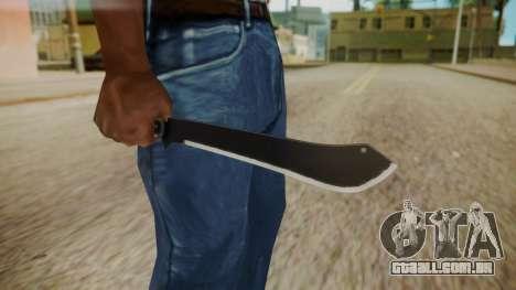 GTA 5 Machete (From Lowider DLC) para GTA San Andreas terceira tela