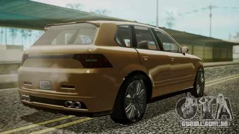 GTA 5 Obey Rocoto para GTA San Andreas esquerda vista