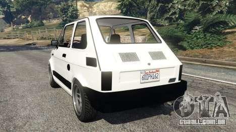 GTA 5 Fiat 126p v0.5 traseira vista lateral esquerda
