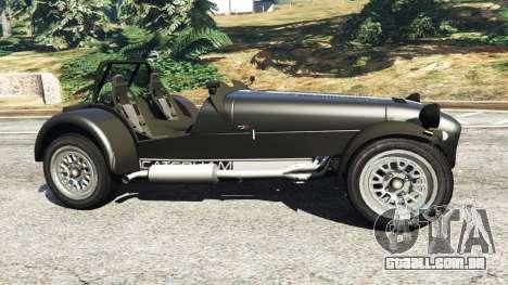 GTA 5 Caterham Super Seven 620R v1.5 [black] vista lateral esquerda